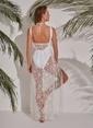 Morhipo Beach Yıldız Desenli Plaj Elbise Beyaz